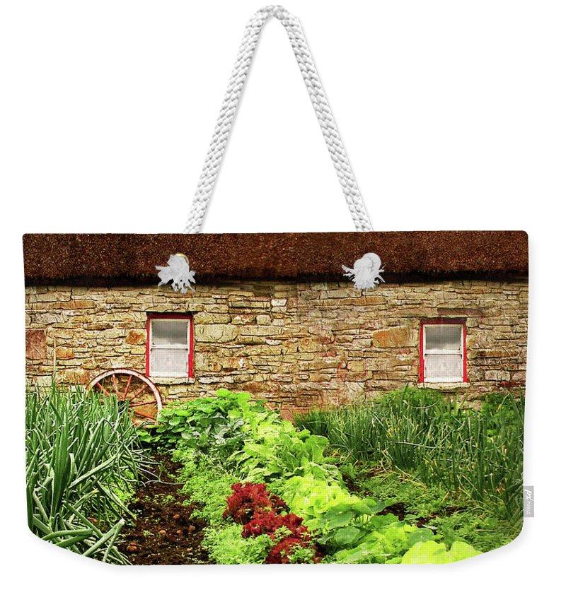 Farm Weekender Tote Bag featuring the digital art Garden Farm by Vicki Lea Eggen