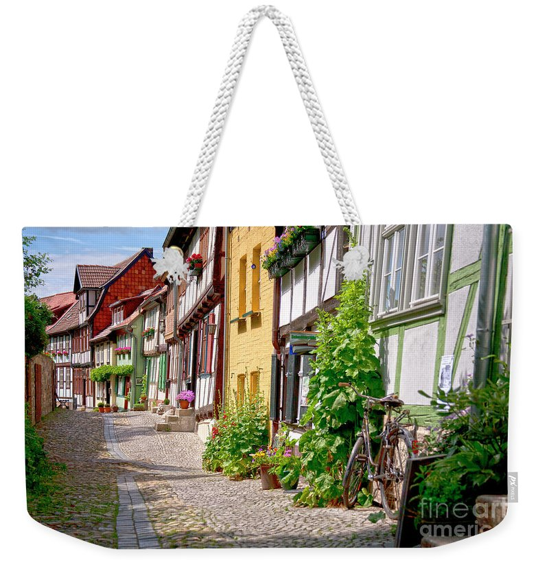 Quedlinburg Weekender Tote Bag featuring the photograph German Old Village Quedlinburg by Heiko Koehrer-Wagner