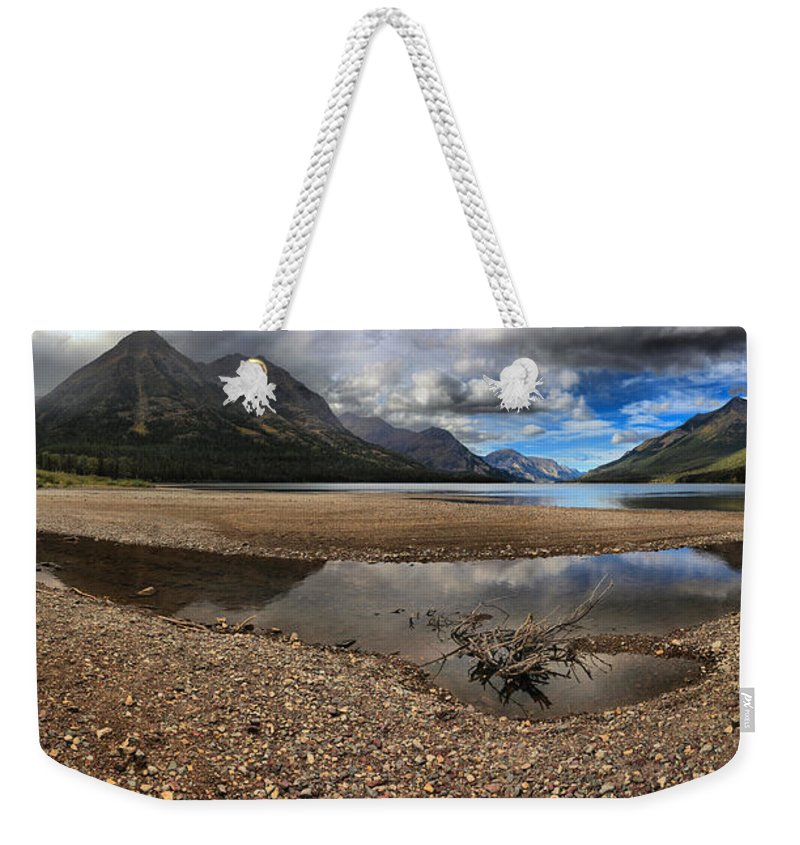 Goat Haunt Weekender Tote Bag featuring the photograph Goat Haunt Tide Pool Reflections by Adam Jewell