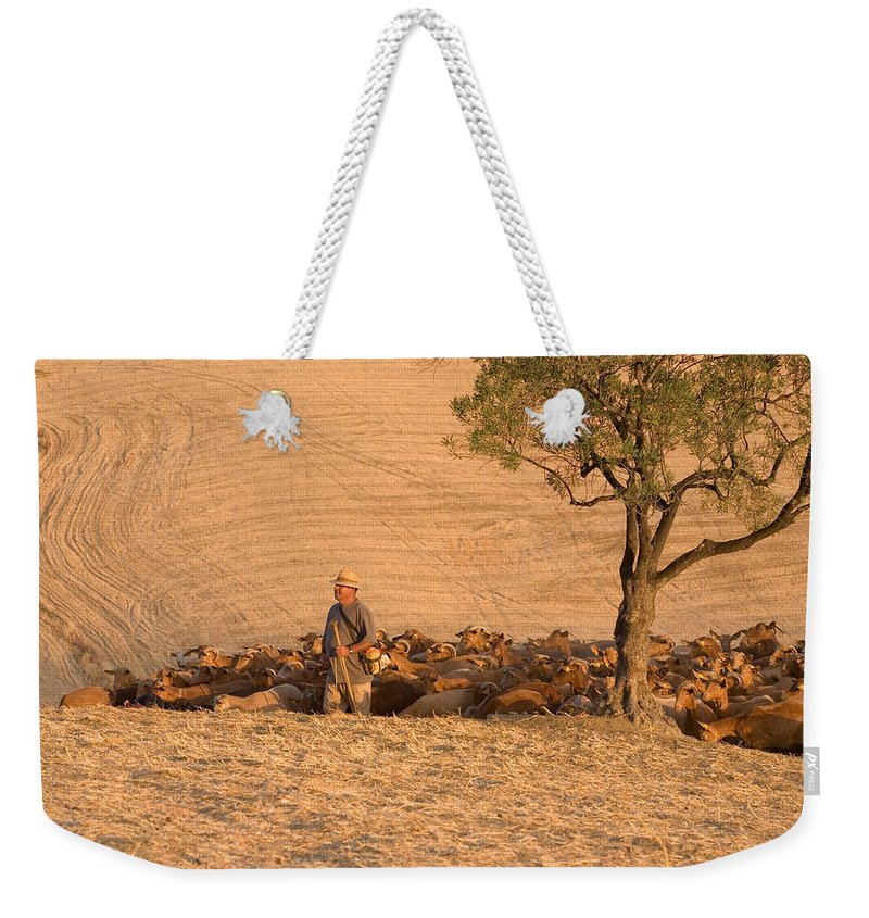 Goat Weekender Tote Bag featuring the photograph Goatherd by Mal Bray