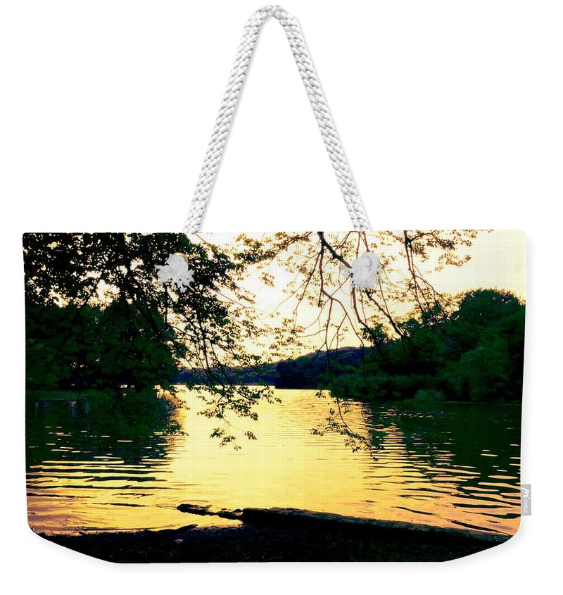 Landscape Weekender Tote Bag featuring the photograph Golden Days by Kendall Eutemey