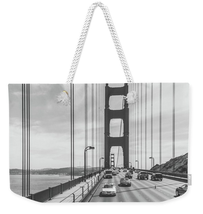 San Francisco Weekender Tote Bag featuring the photograph Golden Gate Bridge by Danny Thomas