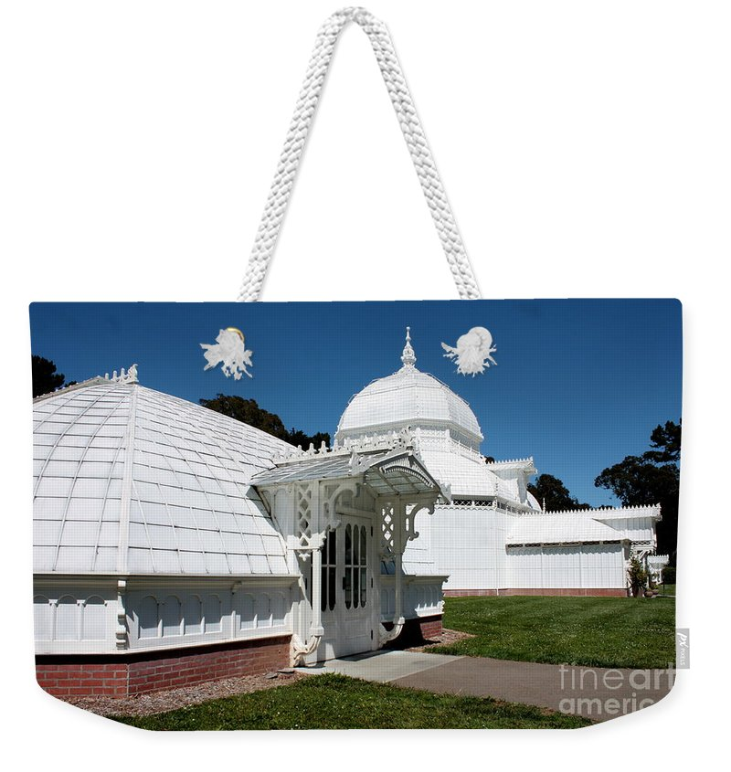 Victorian Weekender Tote Bag featuring the photograph Golden Gate Conservatory by Carol Groenen