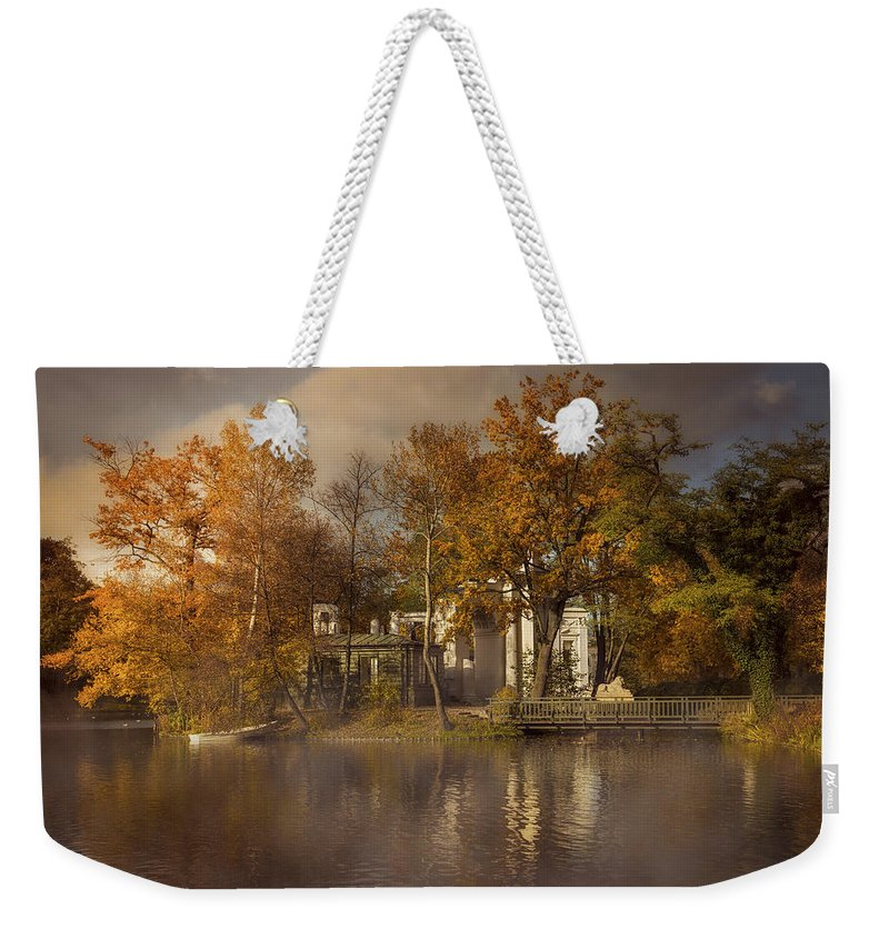 Sunset Weekender Tote Bag featuring the photograph Golden Leaves by Jaroslaw Blaminsky