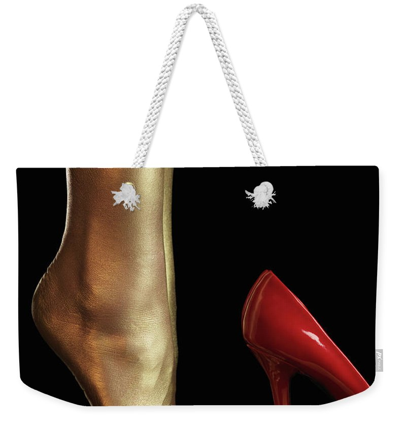 Legs Weekender Tote Bag featuring the photograph Golden Legs by Maxim Images Prints