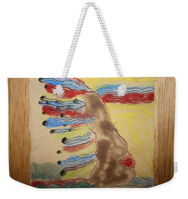 Jesus Weekender Tote Bag featuring the ceramic art Grace - Tile by Gloria Ssali
