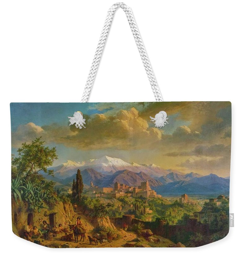 Granada Weekender Tote Bag featuring the painting Granada by Edmund Hottenroth