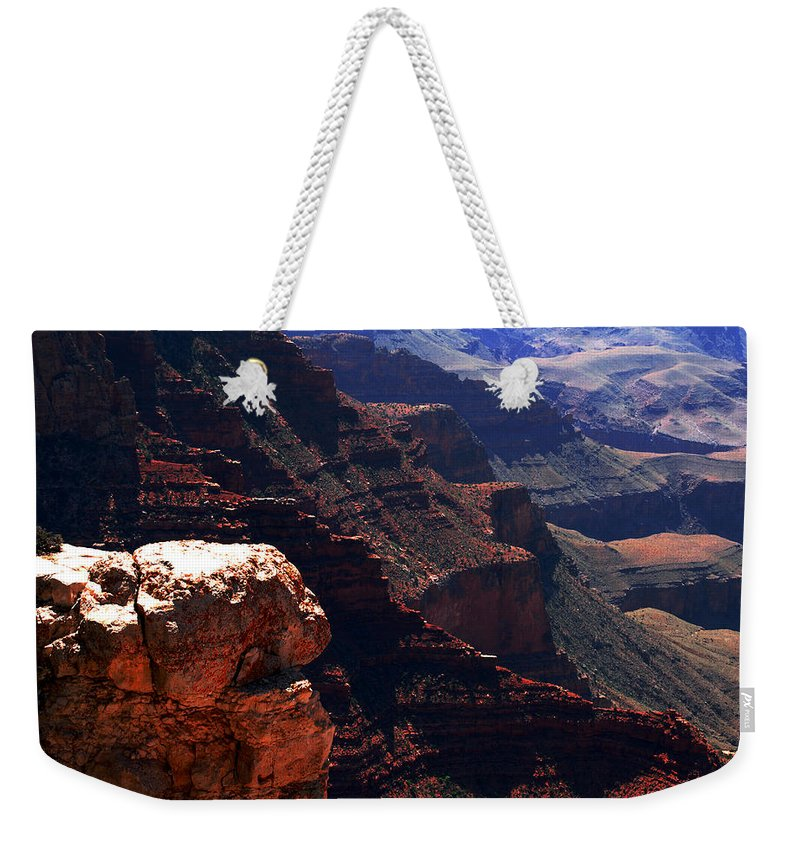 Grand Canyion Weekender Tote Bag featuring the photograph Grand Canyon View by Susanne Van Hulst