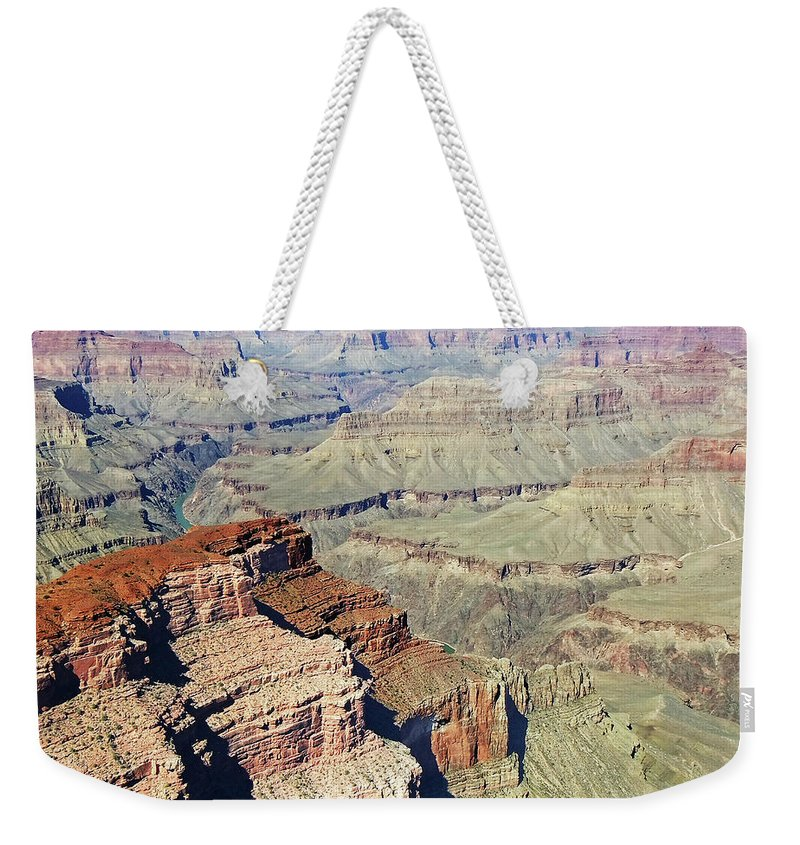 The Grand Canyon Is Arizona's Wonder Of The World. Weekender Tote Bag featuring the photograph Grand Canyon27 by George Arthur Lareau