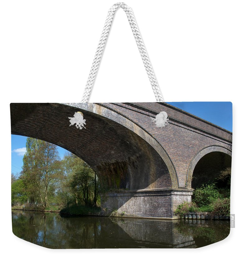 Bridge Weekender Tote Bag featuring the photograph Grand Union Canal Bridge 181 by Chris Day