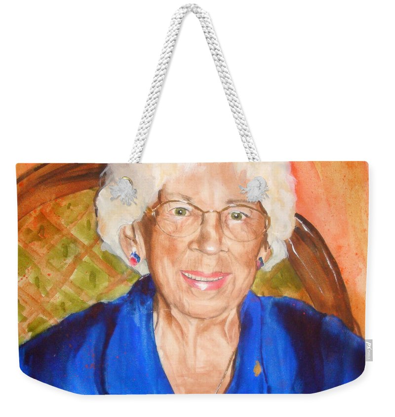 Portrait Weekender Tote Bag featuring the painting Granny by Jean Blackmer