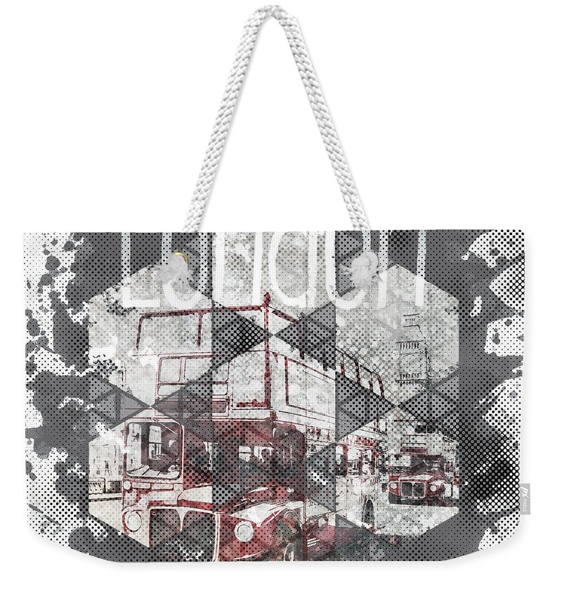Abstract Weekender Tote Bag featuring the photograph Graphic Art London Streetscene by Melanie Viola