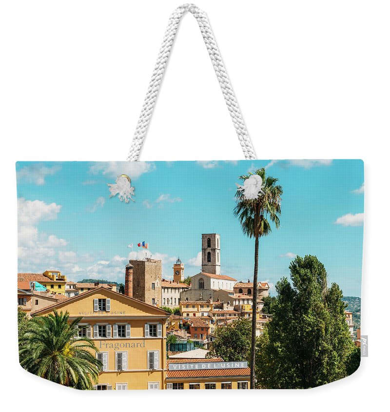 Architecture Weekender Tote Bag featuring the photograph Grasse In Cote D'azur, France by Alexandre Rotenberg