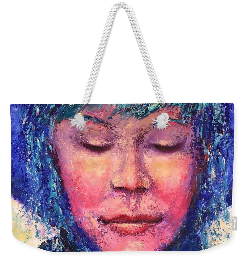 Gratitude Weekender Tote Bag featuring the painting Gratitude by Shannon Grissom