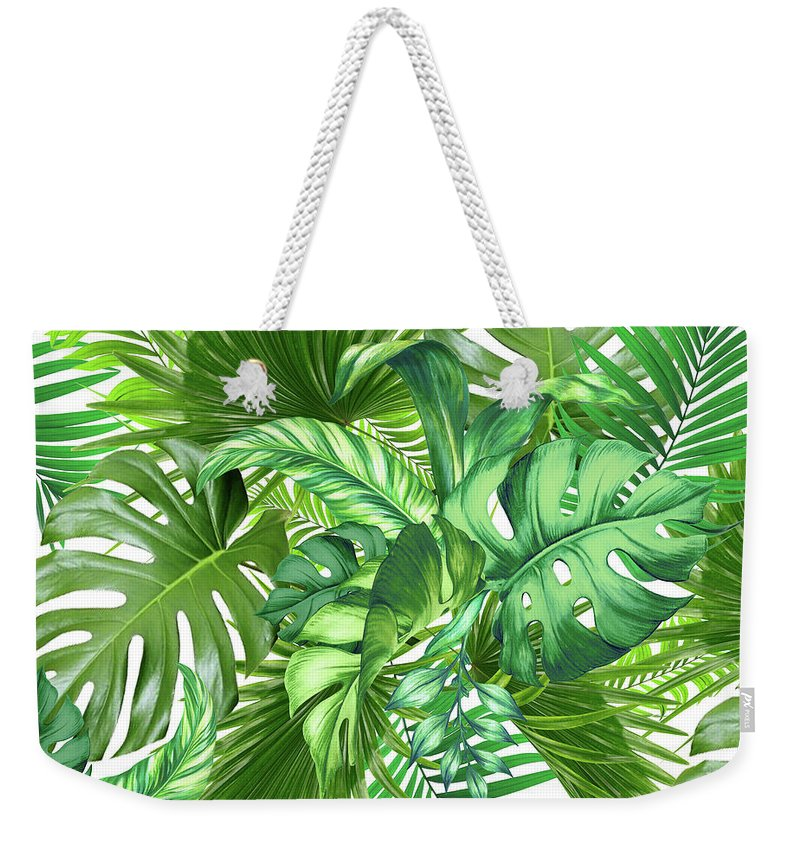 Summer Weekender Tote Bag featuring the photograph Green Tropic by Mark Ashkenazi