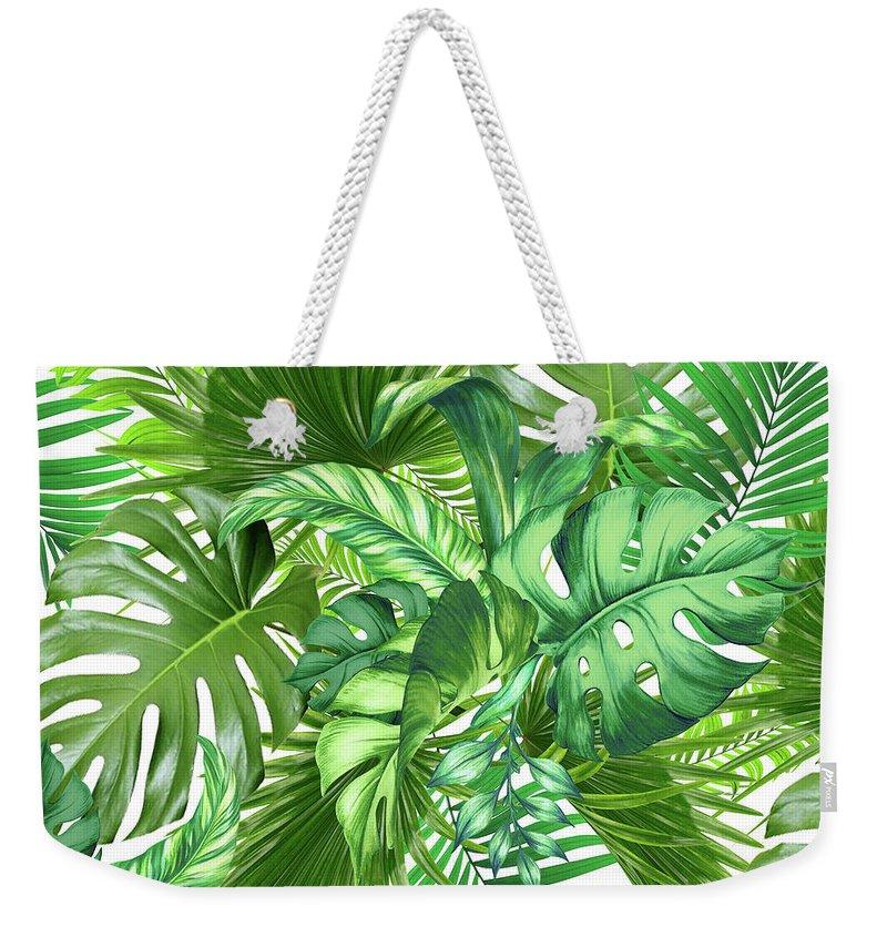 Botanical Weekender Tote Bags