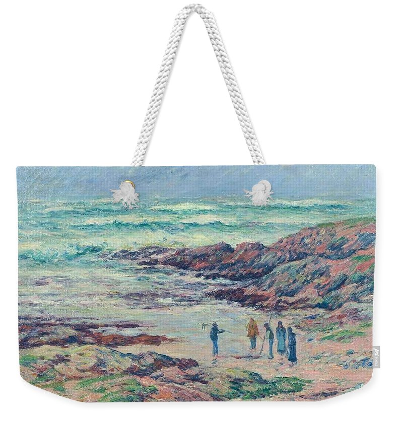 Grey Weather Weekender Tote Bag featuring the painting Grey Weather by Henri Moret