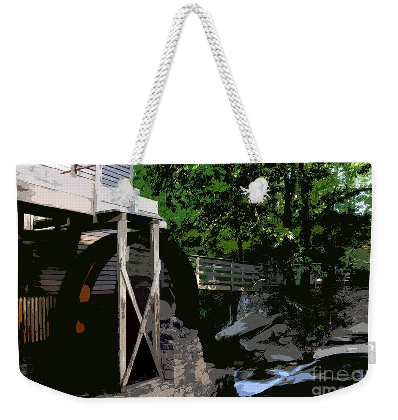Grist Mill Weekender Tote Bag featuring the painting Grist Mill by David Lee Thompson
