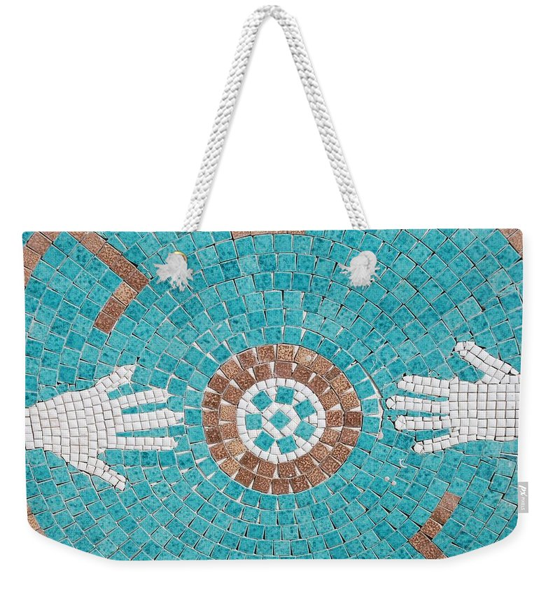 Mosaic Weekender Tote Bag featuring the photograph Hans Mosaic by Rob Hans