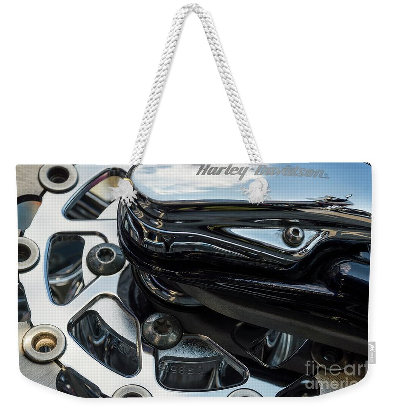 Wendy Weekender Tote Bag featuring the photograph Harley Davidson 16 by Wendy Wilton