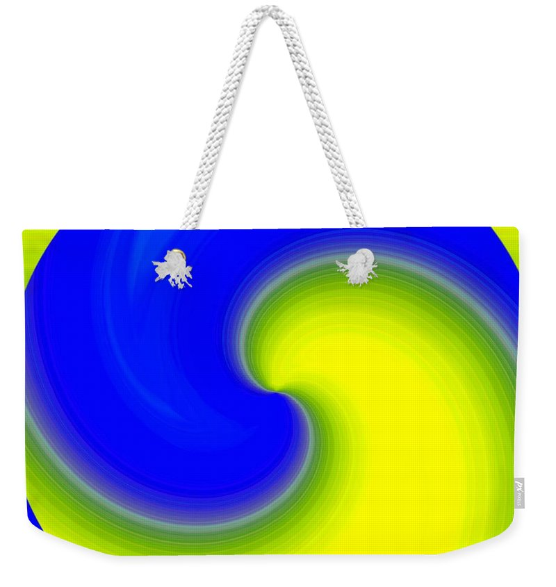 Abstract Weekender Tote Bag featuring the digital art Harmony 22 by Will Borden