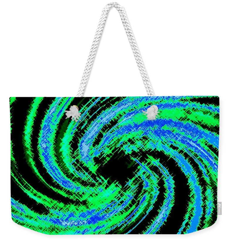 Abstract Weekender Tote Bag featuring the digital art Harmony 24 by Will Borden