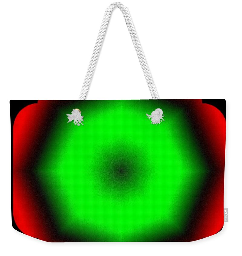 Abstract Weekender Tote Bag featuring the digital art Harmony 26 by Will Borden