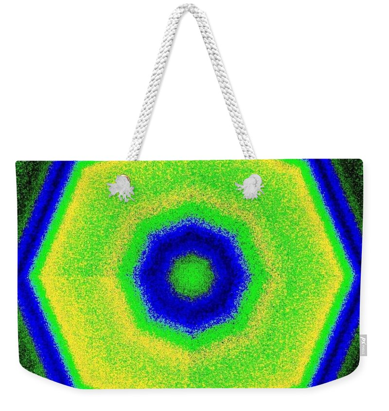 Abstract Weekender Tote Bag featuring the digital art Harmony 27 by Will Borden