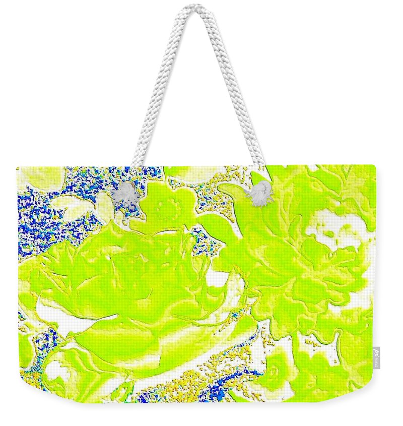 Abstract Weekender Tote Bag featuring the digital art Harmony 31 by Will Borden