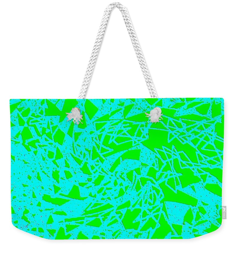 Abstract Weekender Tote Bag featuring the digital art Harmony 8 by Will Borden