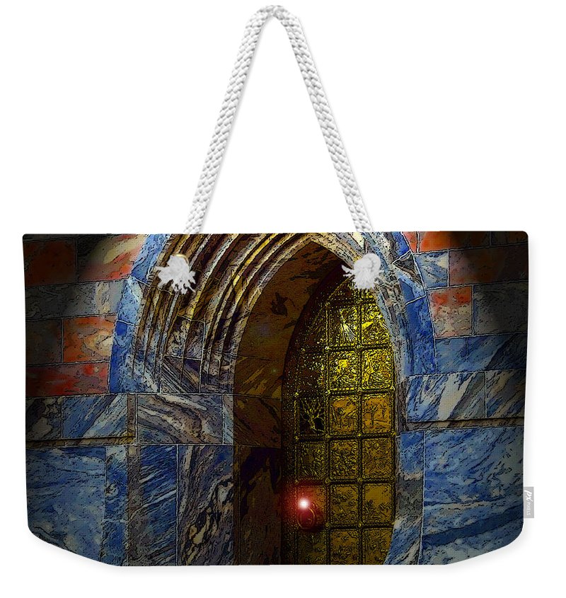Art Weekender Tote Bag featuring the painting Heavens Gate by David Lee Thompson