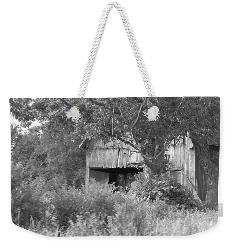 Country Weekender Tote Bag featuring the photograph Hidden by Rhonda Barrett