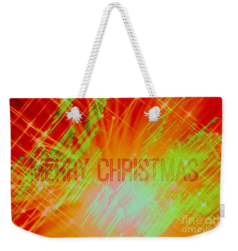 Christmas Weekender Tote Bag featuring the photograph Holiday Burst by Jenny Revitz Soper