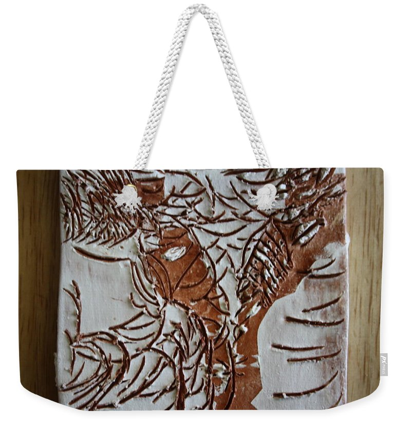 Jesus Weekender Tote Bag featuring the ceramic art Home - Tile by Gloria Ssali