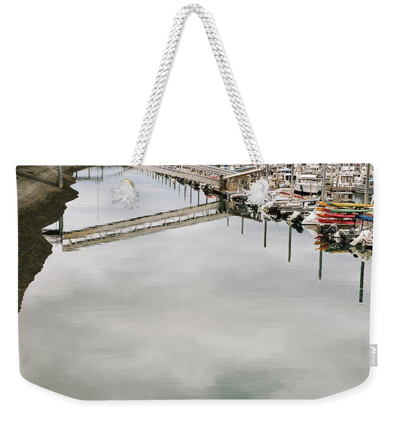 Homer Alaska Weekender Tote Bag featuring the photograph Homer Boat Ramp by Kate Lamb