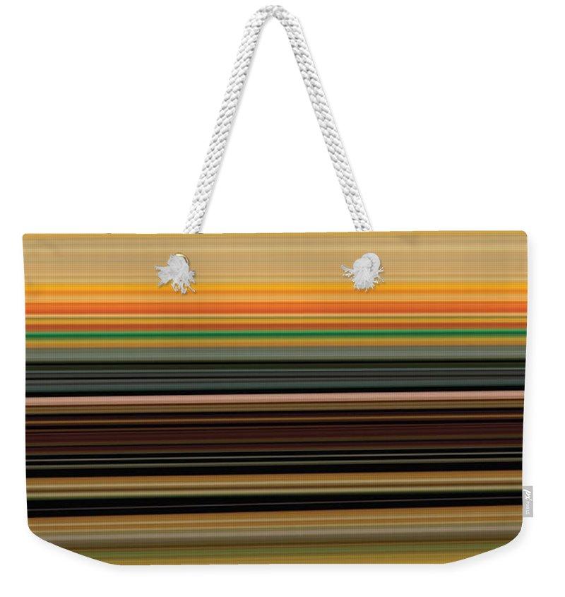 Abstract Weekender Tote Bag featuring the digital art Horizont 1 by Rabi Khan