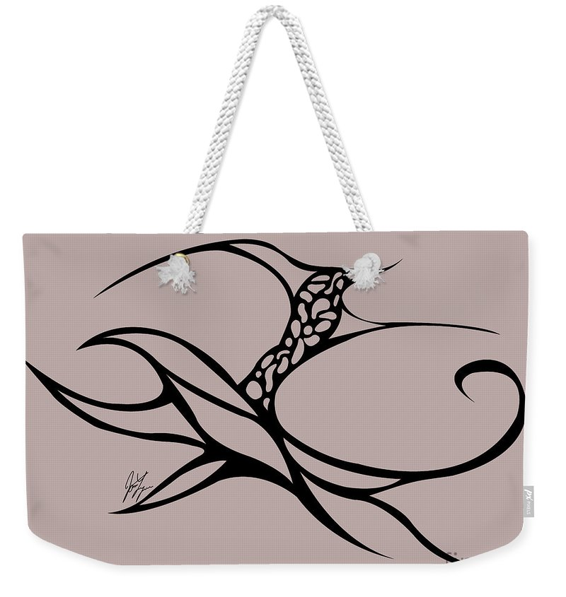 Weekender Tote Bag featuring the digital art Horse Rider by Jamie Lynn