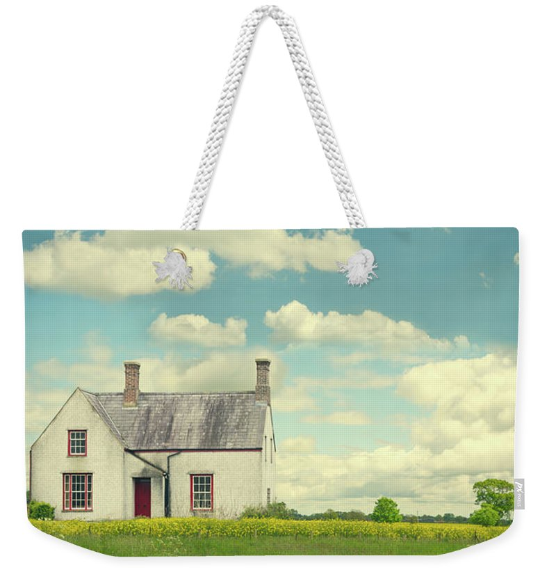 Little Weekender Tote Bag featuring the photograph House In The Countryside by Amanda Elwell