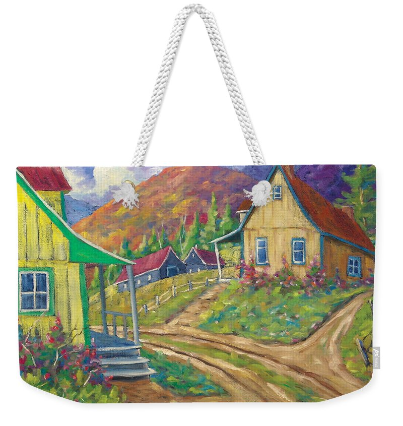 Art Weekender Tote Bag featuring the painting House Of Louis by Richard T Pranke