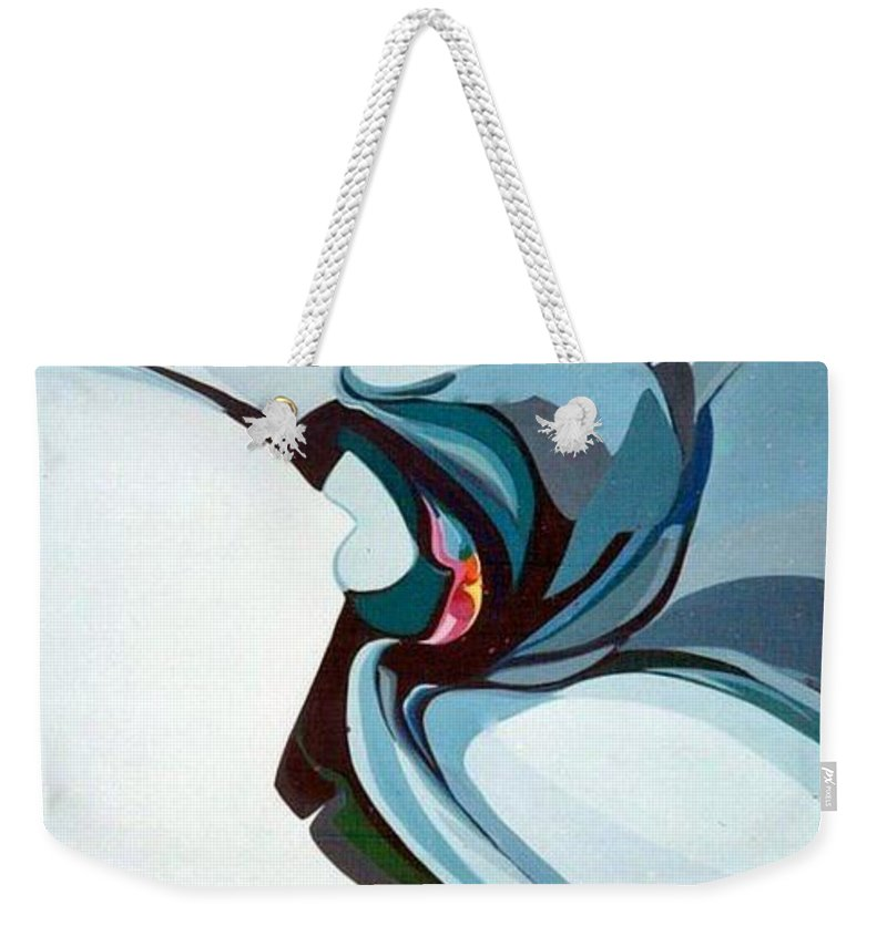 Bird Weekender Tote Bag featuring the painting Hummer by Marlene Burns