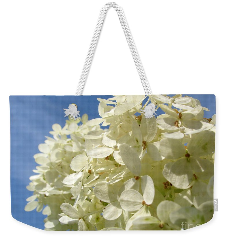 Hydranga Weekender Tote Bag featuring the photograph Hydrangea by Amanda Barcon