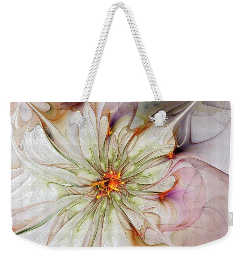 Digital Art Weekender Tote Bag featuring the digital art In Full Bloom by Amanda Moore