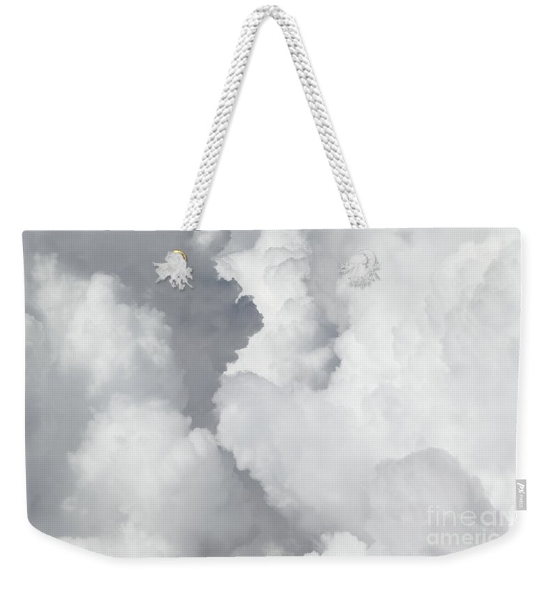 Cloud Weekender Tote Bag featuring the photograph In The Clouds by Dia Karanouh