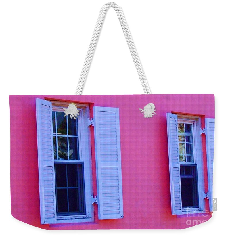 Shutters Weekender Tote Bag featuring the photograph In The Pink by Debbi Granruth