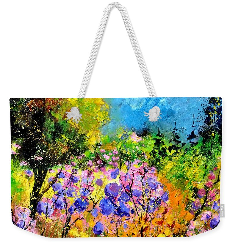 Flowers Weekender Tote Bag featuring the painting In The Wood by Pol Ledent
