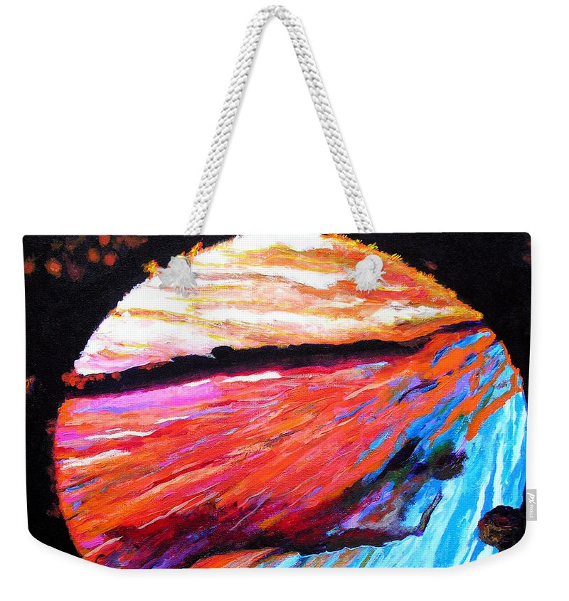 Abstract Weekender Tote Bag featuring the painting Inspire Three by Stan Hamilton