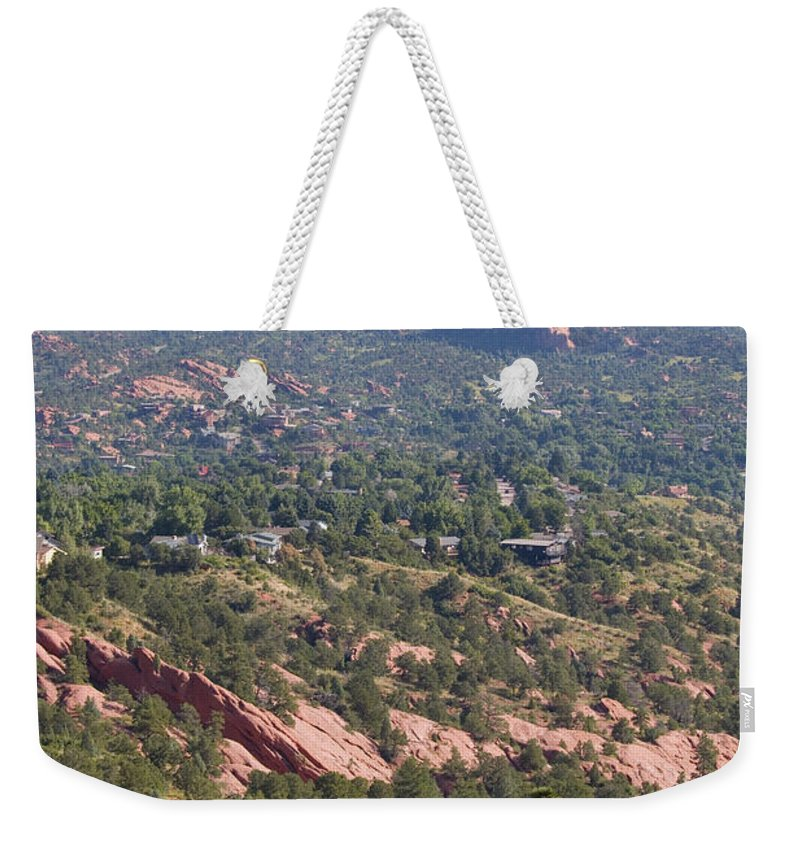 Garden Of The Gods Weekender Tote Bag featuring the photograph Intemann Nature Trail by Steve Krull