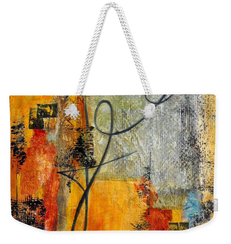 Abstract Weekender Tote Bag featuring the painting Invitation To Dance by Ruth Palmer