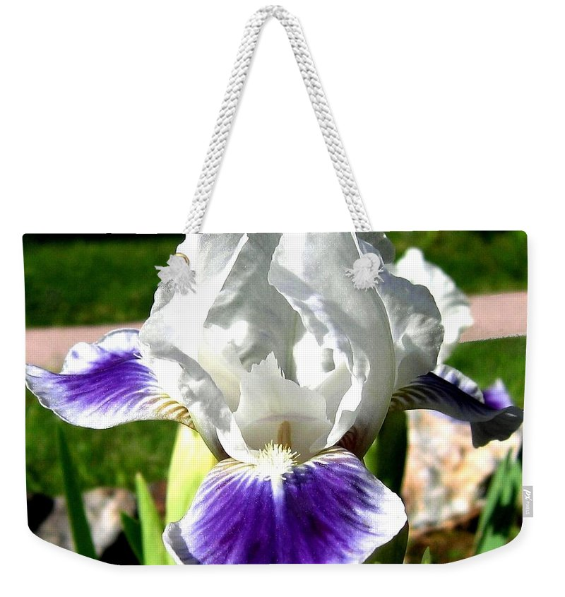 Iris Weekender Tote Bag featuring the photograph Iris Elegance by Will Borden