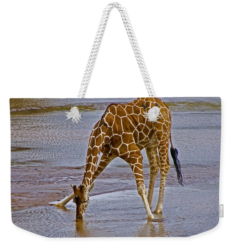 Africa Weekender Tote Bag featuring the photograph It's A Long Way Down by Michele Burgess